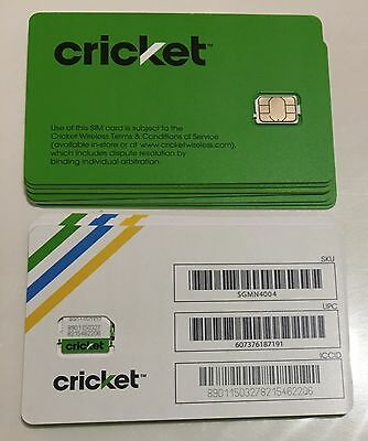 🔵 Cricket 🌐 ___  Nano ____ Sim Card ____ 🔵 new service // replacement 🔵 NEW