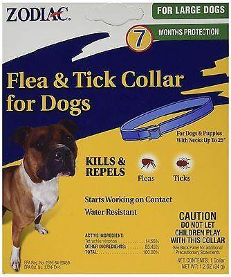 Zodiac Flea & Tick Collar For Large Dogs Fits Neck Up to 25 inches 7 Month