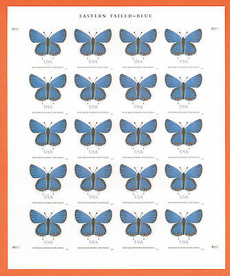US EASTERN TAILED-BLUE BUTTERFLY PANE OF 20 STAMPS MNH 2016