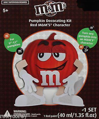 Halloween M&M's M&M Pumpkin Decorating Kit Red M&M's Character NIB - M&s Halloween