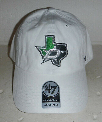Dallas Stars Texas NHL Hockey Logo White Baseball Hat Cap by 47 Brand Dallas Stars Hat