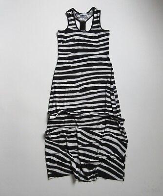 Calvin Klein Black & White Zebra Striped Sleeveless Jersey Tank Maxi Dress 2 Zebra Tank Kleid