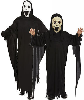 Boys Girls Mens Adult Scream Robe and Mask Halloween Fancy Dress Costume - Scream Outfit Halloween