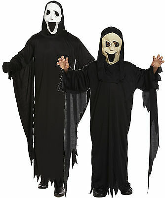 Boys Girls Mens Adult Scream Robe and Mask Halloween Fancy Dress Costume - Halloween Costumes For Boys And Girls