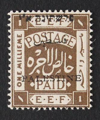 Palestine Jer I, 1m, Mispalaced Overprint Veriety, MNH Stamp #a410b