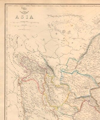 1863  LARGE ANTIQUE MAP - DISPATCH ATLAS- ASIA