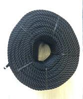 10mts X 24mm Nailon Negro 3 Filamentos Cuerda,amarres,ancla Cuerdas,barcos, -  - ebay.es