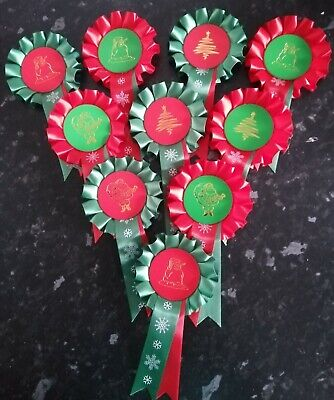 10 X 1 Tier Mini Thank You Rosettes in quality single faced satin.