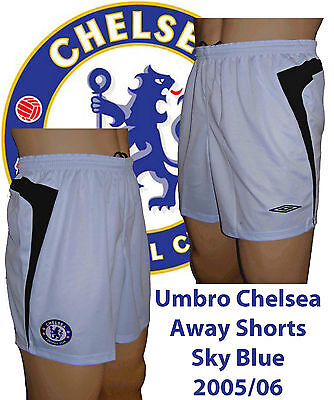Umbro Chelsea Away Shorts X/large Sky 2005/06 (reduced)