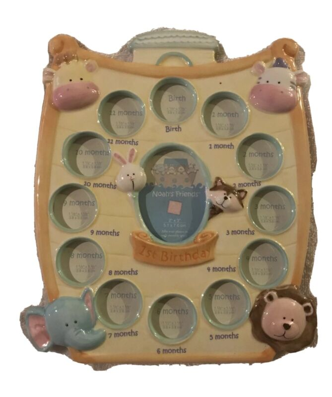 Birth To First Birthday Noah's Friends Picture Frame