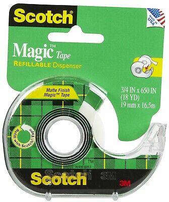 Scotch Magic Tape In Refillable Dispenser 34 X 650 34 Core Transparent 112