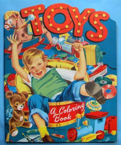 VINTAGE - TOYS - COLORING BOOK - LOWE - UNUSED - 1950