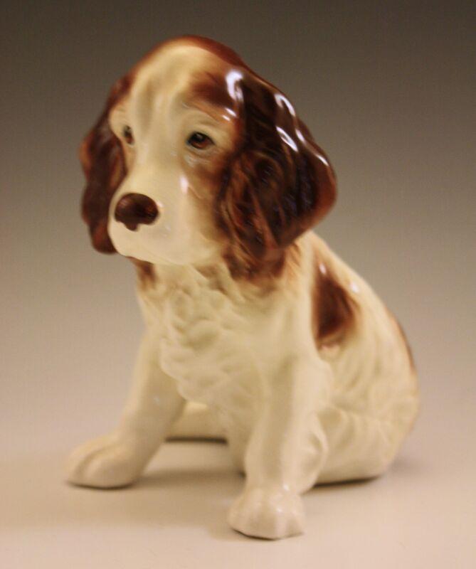 "VINTAGE SYLVAC ENGLAND SPANIEL PUPPY DOG FIGURINE DESIGN 18.5"""