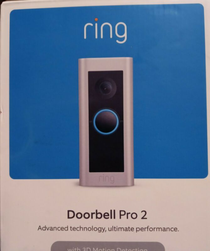Ring Doorbell Pro 2 With 3D Motion Detection NIB