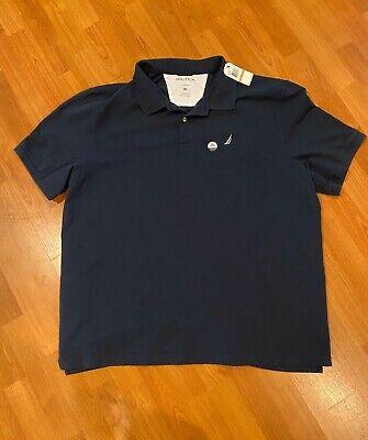 Nautica Classic Fit Black Short Sleeve Polo Shirt Mens 3XL XXXL Retail $49.50