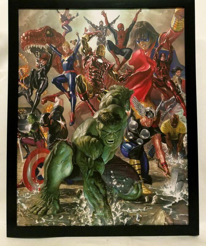 Avengers & Immortal Hulk by Alex Ross FRAMED 11x14 Art Print Marvel Comics Poste