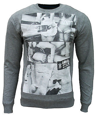 New Soul Star Men's Candice Fashion Casual Lightweight Sweatshirt Top grey 1783