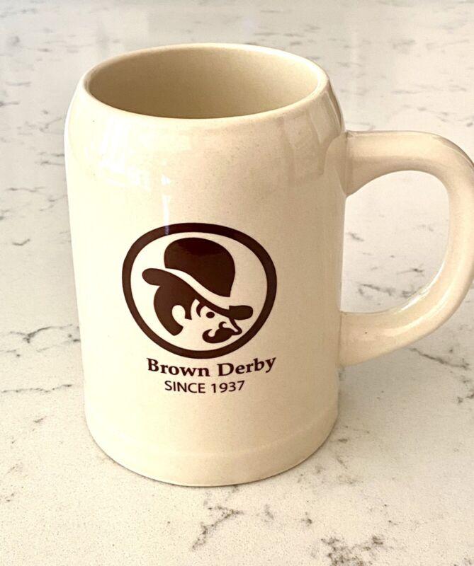 BROWN DERBY MUG VERY RARE HARD TO FIND COFFEE TEA CUP