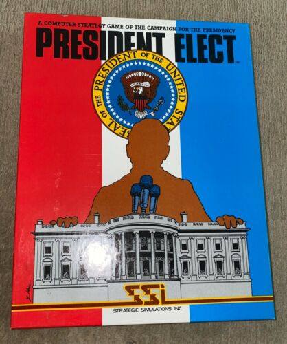 """1981 Rare Apple II SSI President Elect 5.25"""" Floppy Disk Computer Game"""