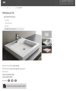 Cantrio Koncepts Bathroom Vessel Sink - Brand New
