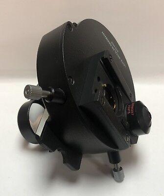 Leitz Microscope Condenser 512594 With Top Polarizing Element Lens Pol 513675