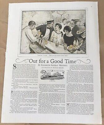 Good Time story pictorial 1927 vintage print 20s art illustration Frances Rogers
