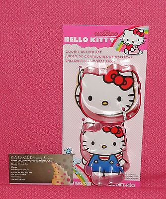 Hello Kitty Metal Cookie Cutter Set, Sanrio,Wilton,2 Pack,Red,Pink,3.5