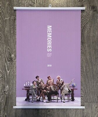BTS OFFICIAL WALL SCROLL POSTER MEMORIES OF 2018 PREORDER BENEFIT [NEW]
