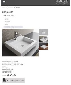 BRAND NEW - Cantrio Vessel Bathroom Sink