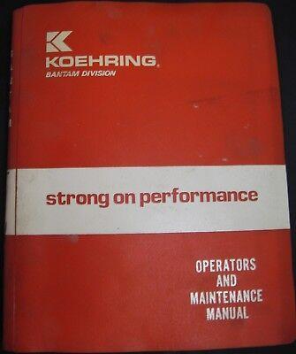 Koehring Bantam Model T-744 Teleskoop Operator And Maintenance Manual