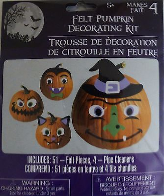 Making Paper Halloween Decorations (New Halloween Pumpkin Decorating Kit Makes 4 ~ Felt   FREE)