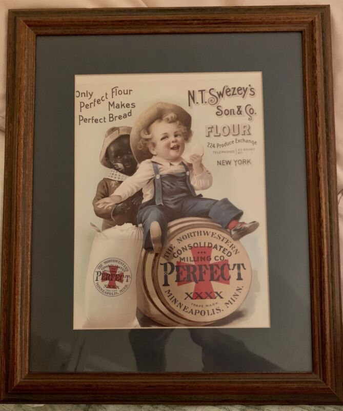 Framed Print,Child,African American,Victorian,Reproduction,N.T.Swezey's Son & Co