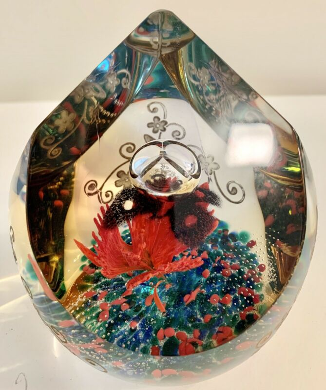Gorgeous Caithness Scotland Limited Edition of 250 Golden Dawn Paperweight