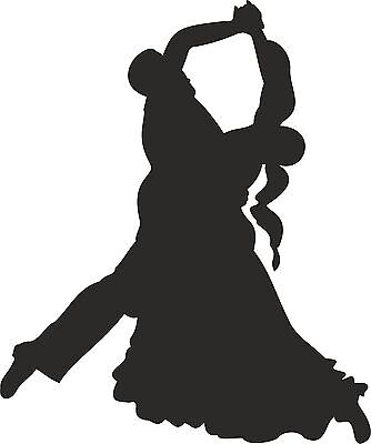 Autoaufkleber Tanzen 002  Aufkleber, Sticker Tanz Tanzsport Standard Walzer