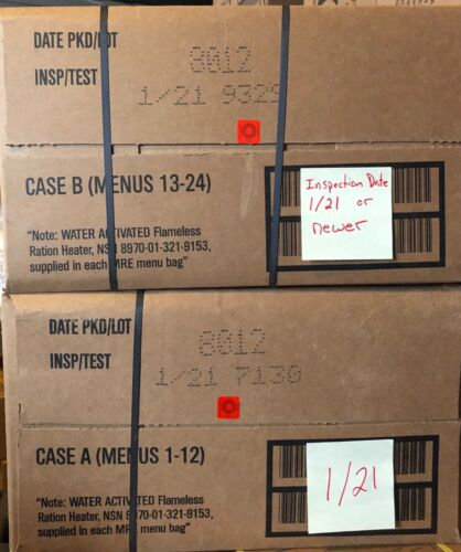 Military MRE 01/2021Inspection Date A and B Case