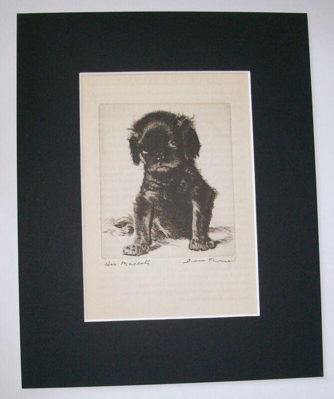 Cavalier King Charles Diana Thorne Bookplate Print 1936 Matt Terhune His Majesty