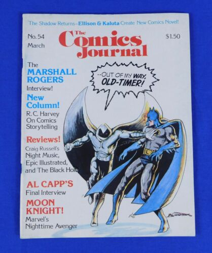 The Comics Journal No. 54 1980 Bill Sienkiewicz Cover Batman & Moon Knight