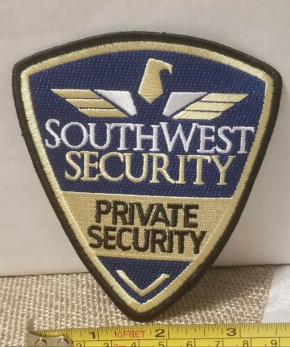 Southwest Security Private Security Shoulder Patch. 100% Embroidered. Collectors