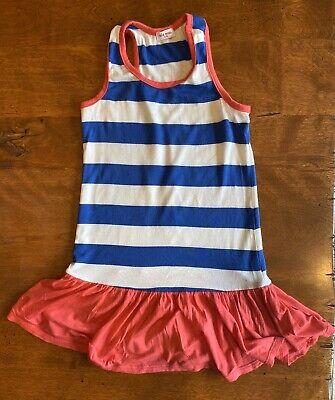 Girls Ella Moss Red White & Blue Patriotic Drop Waist Dress Size 4/5