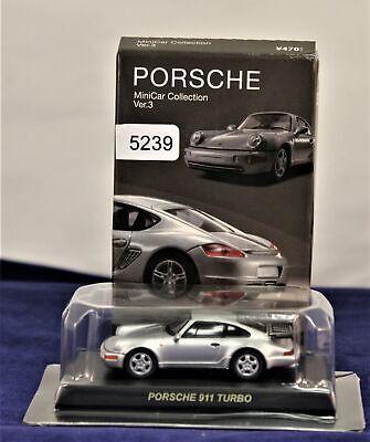Kyosho 1:64 Silver Porsche 964 911 Turbo