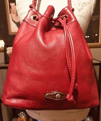 Drawstring Hobo Bag - Elliott Lucca Pebble Leather Drawstring Shoulder Bag Hobo Stunning Scarlet Red