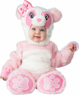 Lil Pink Panda Bear Child Baby Girls Infant Toddler Costume NEW - Toddler Bear Costume