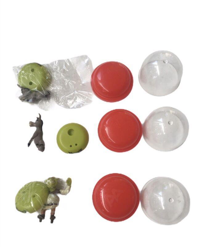 Shrek And Donkey Set Of 3 Mini Cending Machine Egg Figure Vtg RARE