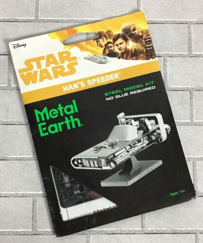 SOLO Star Wars Han's LandSpeeder Model Kit Metal Earth Steel Corellian M-68
