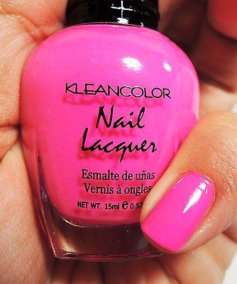 - 1PC Kleancolor Nail Polish Lacquer #20 Neon Pink Color Nail Polish
