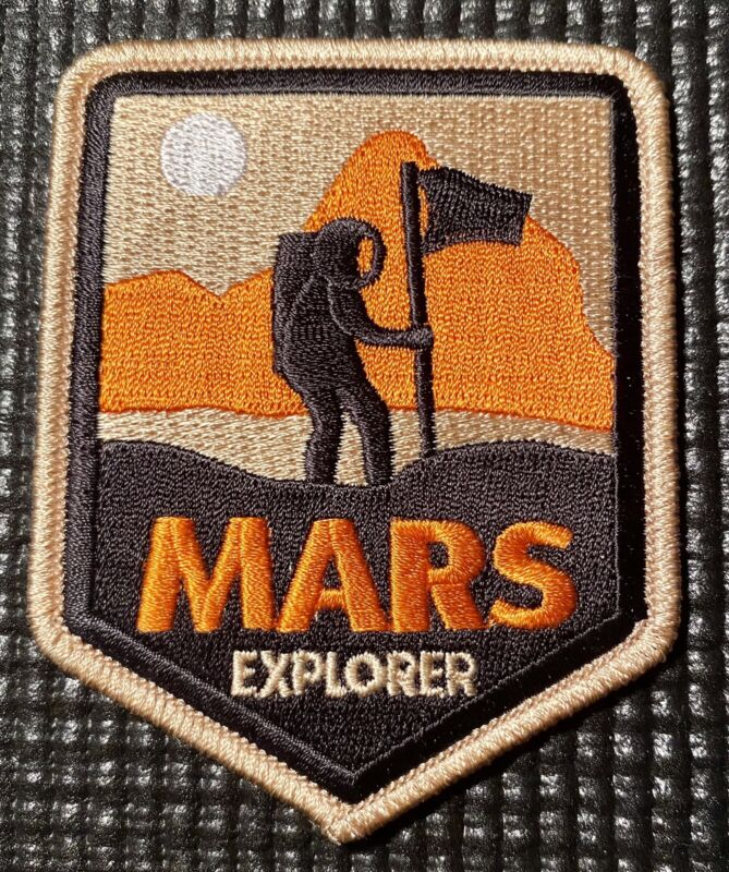 """MARS EXPLORER - SPACE PATCH - 3"""" X 3"""""""