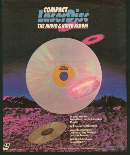 1986 Compact LaserDisc Digital Audio & Video Album Retro Art Vintage Print Ad
