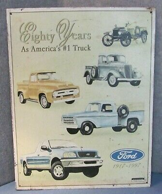 FORD 80 years America's #1 Truck 1917-1997 Vintage Metal steel Sign 12 x 16