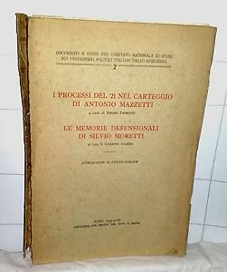 I-PROCESSI-DEL-21-NEL-CART-DI-A-MAZZETTI-MEMORIE-DEFENS-DI-S-MORETTI-Roma-1939