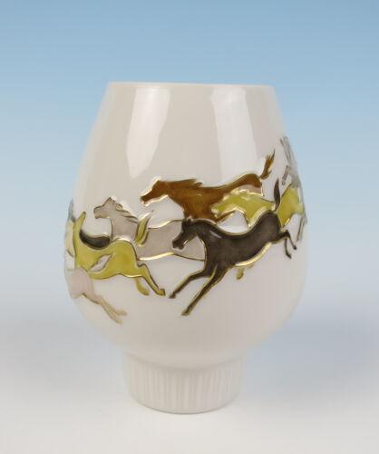 Hans Achtziger Mid-Century Modern Horses Candle Holder Hutschenreuther Porcelain